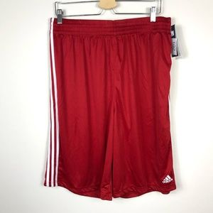 Adidas Red White Stripe Practice Shorts XLT NWT
